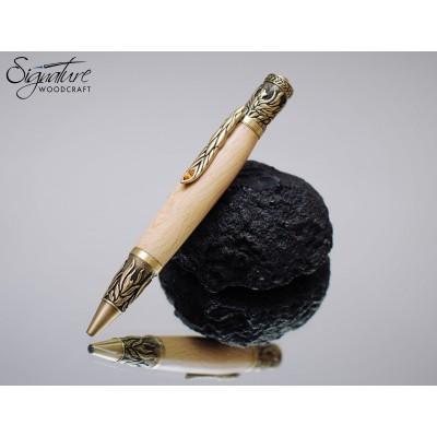 #181 - Game of Thrones Themed Ballpoint Pen in Dark Hedges Beech (Phoenix)