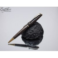 #168 - Scribe Ballpoint Pen in Handmade Pen Ireland Bog Oak
