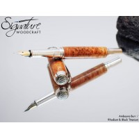 #127 - Junior Ambassador Fountain Pen in Amboyna Burr