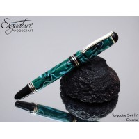 #172 - Kingsley Fountain Pen in Turquoise Swirl