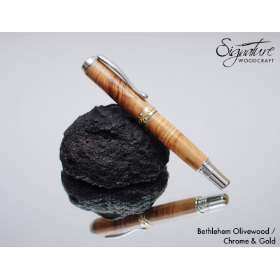#207 - Trenton Fountain Pen in Bethlehem Olivewood