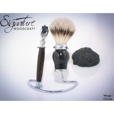 Viscount Deluxe Shaving Set (Razor, Brush & Stand)