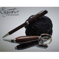 Scribe Ballpoint Pen & Keyring Set