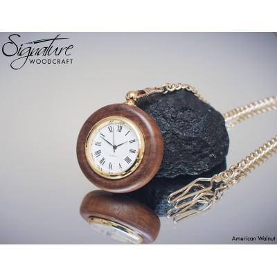 Handmade Wooden Pocket Watch