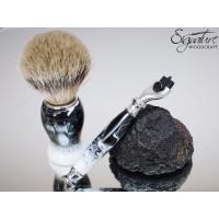 Kingsman Deluxe Shaving Set (Razor, Brush & Stand)